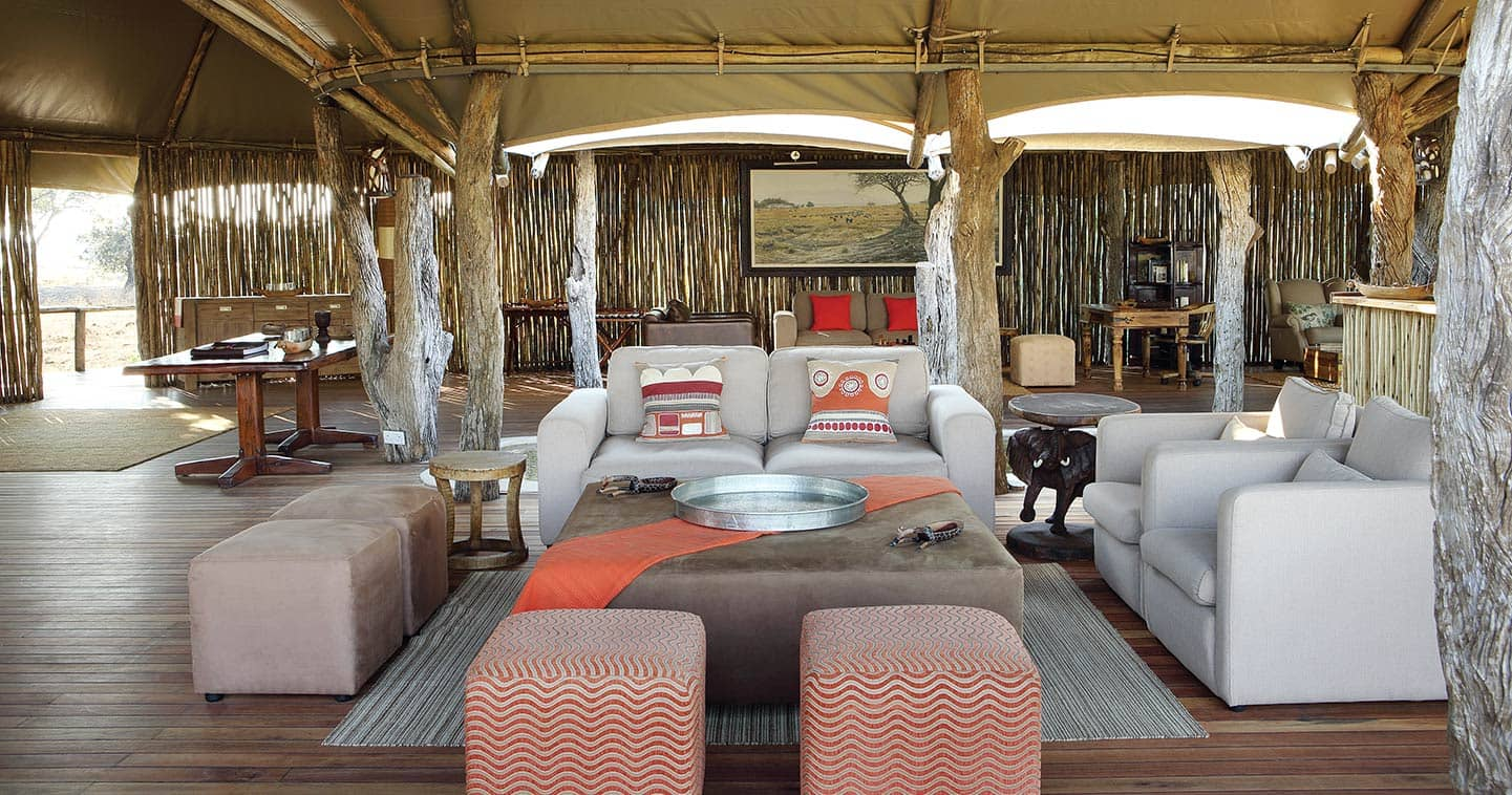 The Lounge at Anabezi Camp in Lower Zambezi National Park