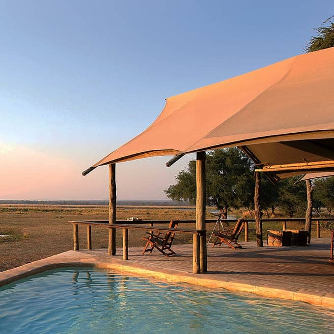 Pool with Bush View at Anabezi Camp Lodge