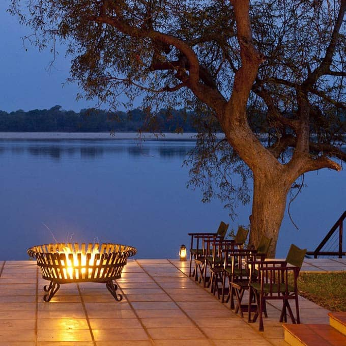 Enjoy Relaxing Arround the Boma next to the Zambezi River