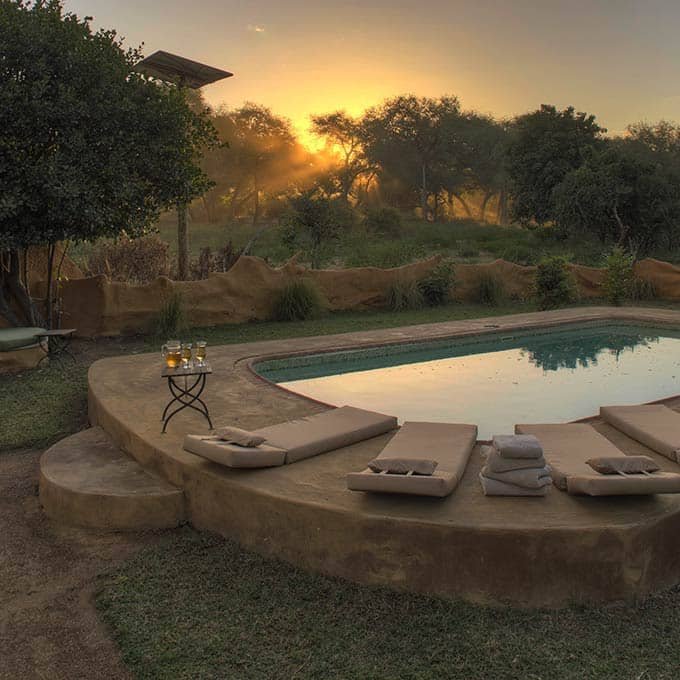 Enjoy the Sundown at the Luxury Pool at Chongwe River Camp