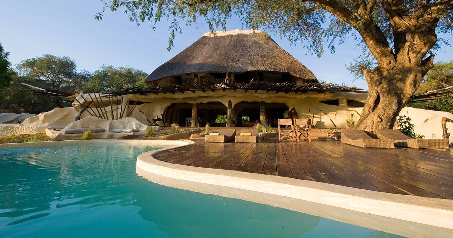 View from the Lodge over the Pool at Chongwe River House