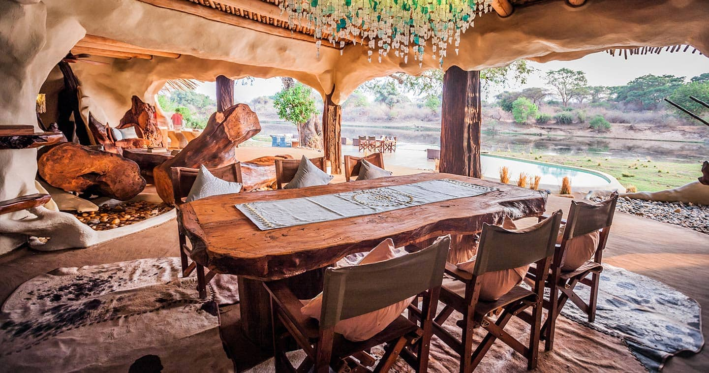 Dining in a Luxury Setting at Chongwe River House in Zambia