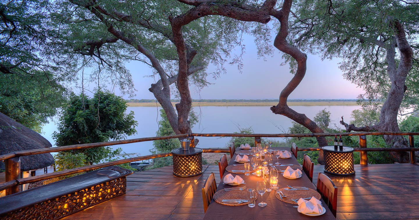 Dining in a Luxury Setting at Kasaka River Lodge