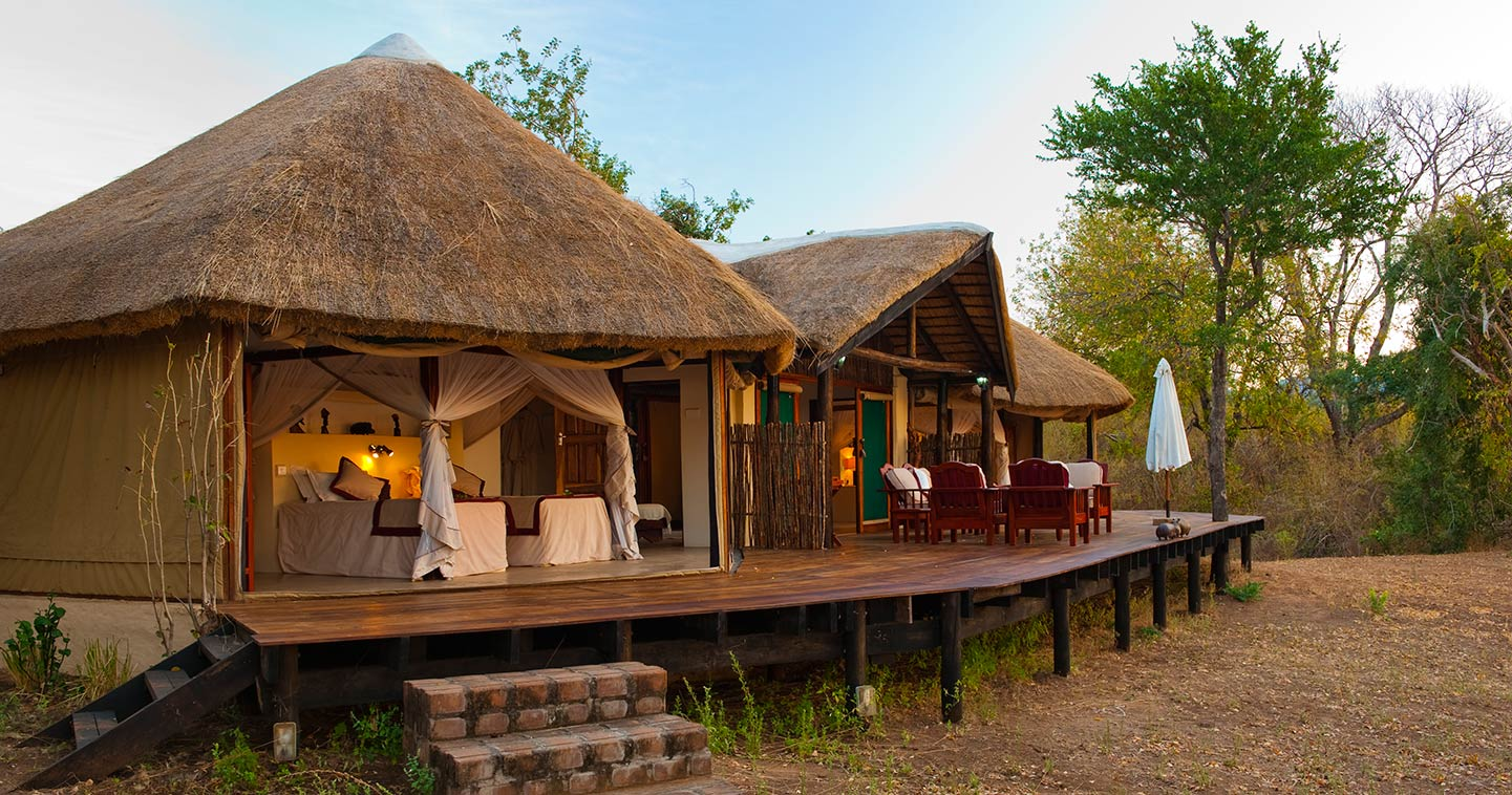 Outdoor living at Kasaka River Lodge in the Lower Zambezi National Park