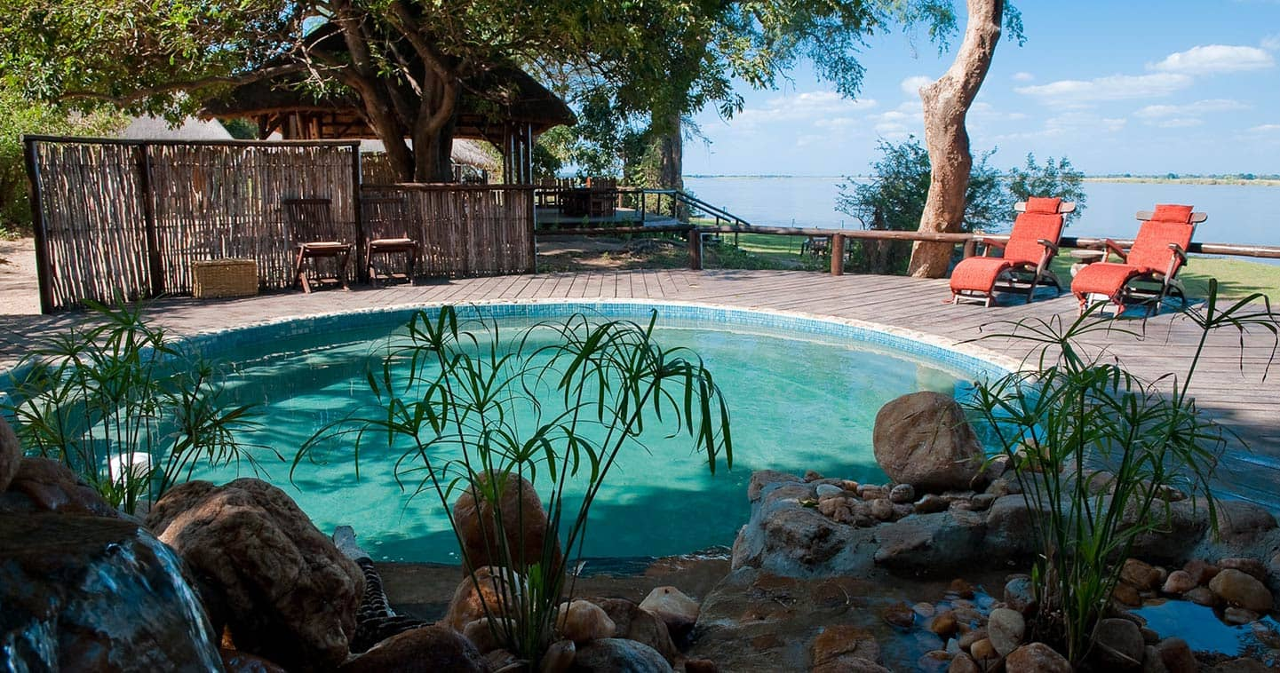 Pool at Chiawa Camp in the Lower Zambezi National Park in Zambia