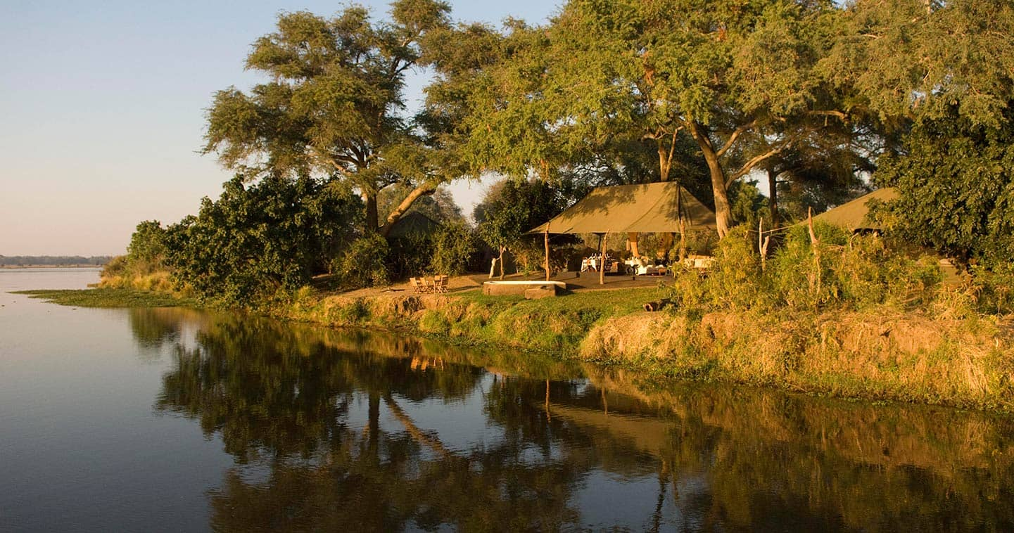 Outdoor living at a Lodge in the Lower Zambezi National Park