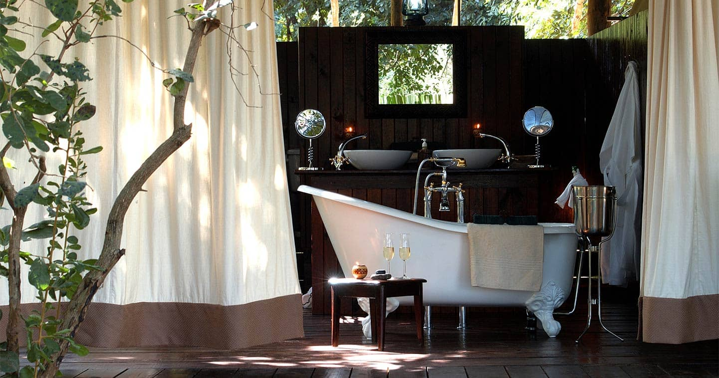 Outdoor Bathing at a Lodge in the Lower Zambezi National Park