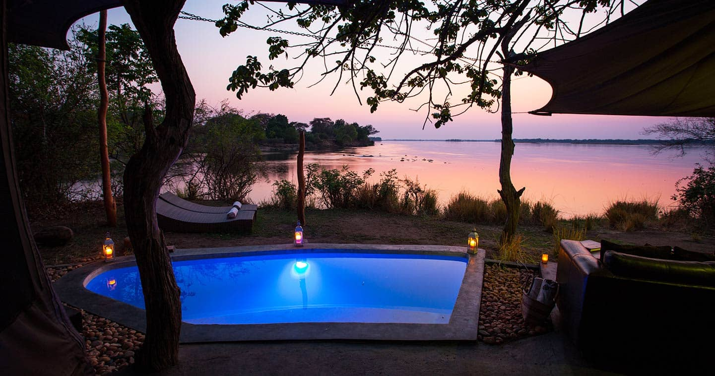 Pool Next to the Zambezi River at Chongwe River Camp