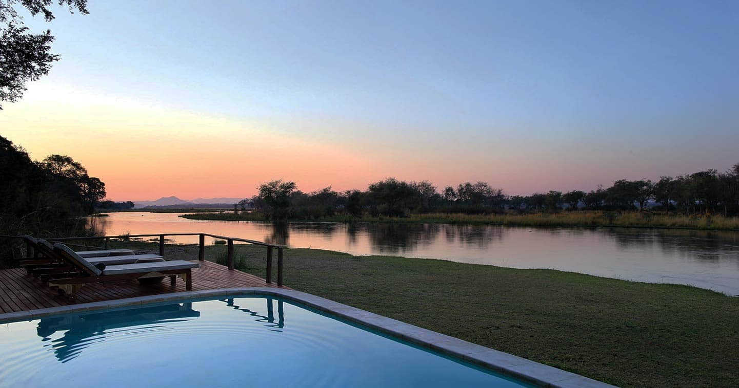 Pool Next to the Zambezi River at Amanzi Camp