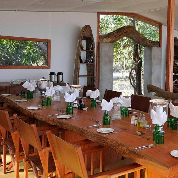 Luxury Dining at Potato Bush Camp in Zambia