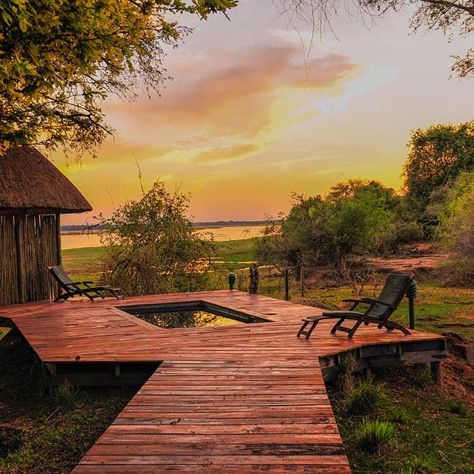 Outdoor living at the Luxury Royal Zambezi Lodge in the Lower Zambezi National Park