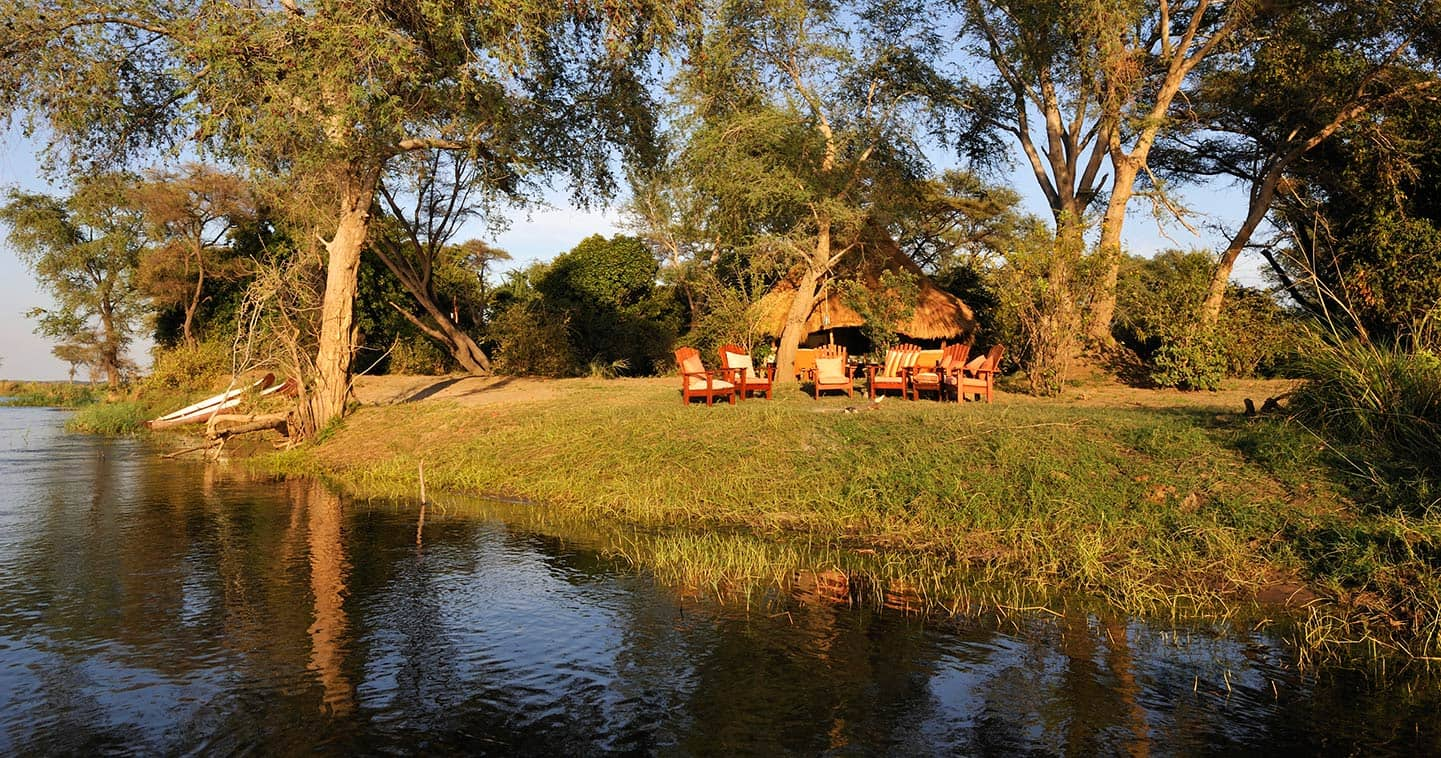 Enjoy the Sunset in Tsika Island Bush Camp in the Lower Zambezi National Park