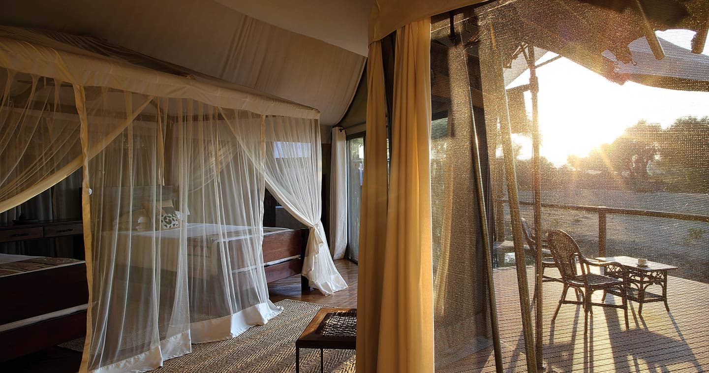 Enjoy the Luxury Bedroom at Amanzi Camp in the Lower Zambezi National Park
