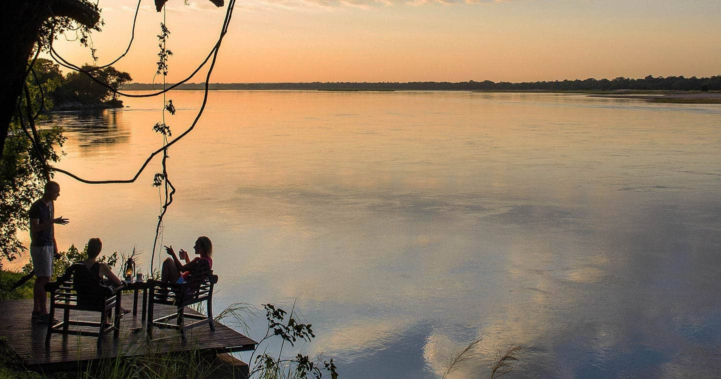 View from Baines River Campover the Zambezi River