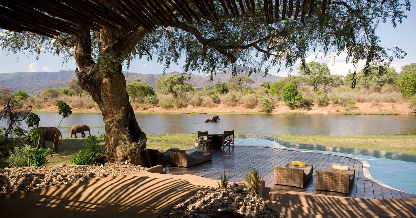 View from the Main Deck over the Zambezi River at Chongwe River House